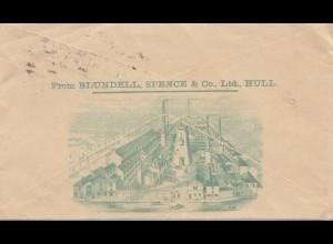 England: 1894: Hull nach Leipzig - Ganzsache