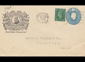 England: 1945: London nach Holland - Ganzsache