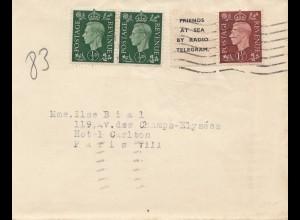 England: 1938: Brief nach Paris