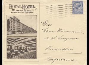 England: 1934: London in die Schweiz
