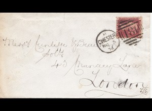 England: 1874 Chester nach London