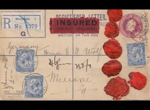 England: 1925: Registerd/Insured Manchasternach Merane