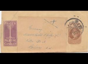 England: 1900: Brief nach Berlin: Palmitine Candles