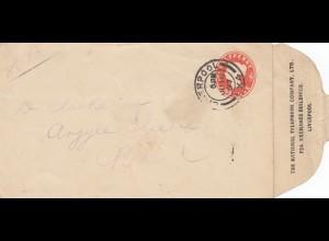 England: 1897: Liverpool Ganzsache nach Birkenhead