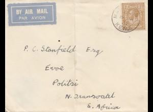 England: 1932: Ganzsache Luftpost nach South Africa