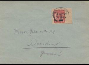 England: Brief nach Dresden