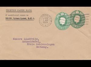 England: 1929: London nach Schmeidefel