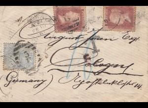 England: 1891 Brief nach Deutschland