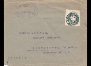 England: 1912: Liverpool nach Schöneberg