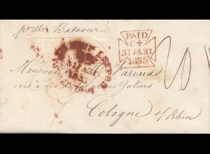 England: 1835: Brief nach Köln, Textinhalt