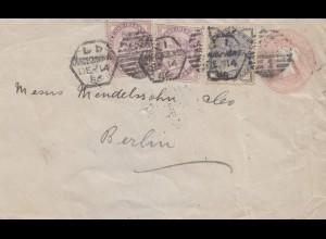 England: 1885: Brief nach Berlin