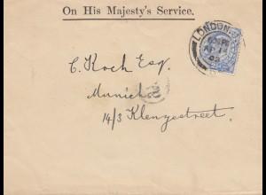 England: 1903: London nach München