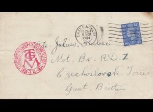 England: 1944: East Finchley nach Czechoslovak - UK