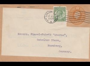 England: 1925: London nach Nürnberg