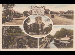 England: Ansichtskarte Frimley nach nach London