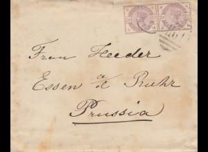 England: 1885: Brief nach Essen