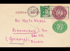 Irland: 1951: nach Brannenburg - Post early Christmas