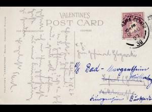 Irland: 1939: Ansichtskarte Dublin - Bank of Ireland nach Erfurt
