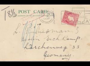 Irland: 1936 post card nach Deutschland