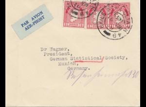 Irland: 1949: Luftpost nach München