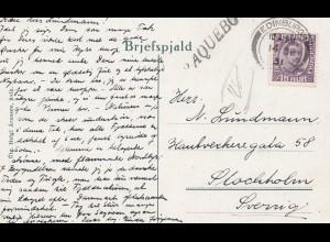 Island: 1931: Weihnachtskarte Edinburg nach Stockholm