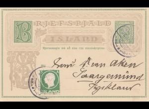 Island: 1912: Ganzsache von Reykjavik nach Saargemünd