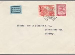 Island: 1954: Brief nach Idar Oberstein