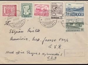 Island: 1957: Brief nach CSR-Prag