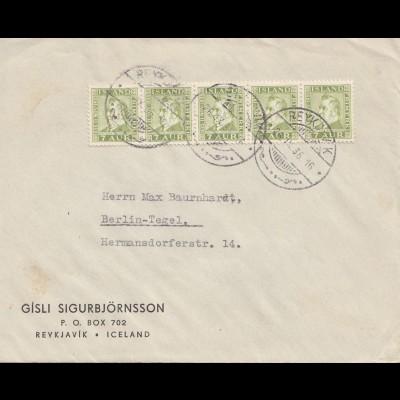 Island: 1936 Brief nach Berlin