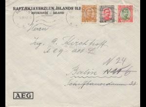 Island: 1930: Bergen nach Berlin AEG