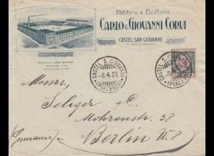 Italien: 1925: Fabrica Bottoni San Giovanni nach Berlin