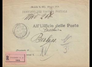 Italien: 1914: Palermo nach Berlin - Ufficio delle Poste