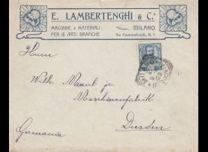 Italien: 1907: Milano nach Dresden