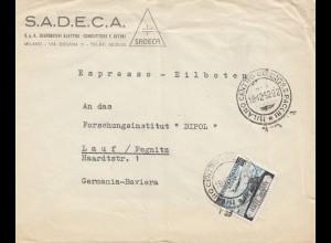 Italien: 1952: Milano nach Lauf/Pegnitz
