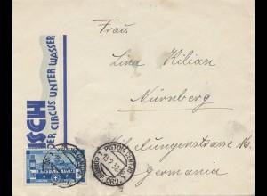 Italien: 1932: Pistoria - Circus unter Wasser nach Nürnberg