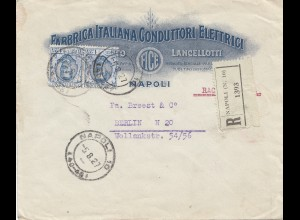 Italien: 1927 Napoli nach Berlin