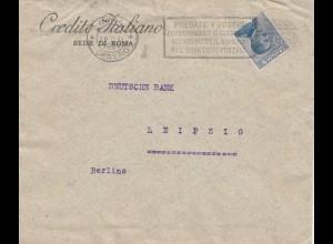 Italien: 1920: Credito Italiano nach Leipzig - Perfin