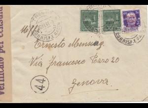 Italien: 1944 Trento nach Genova- Verificato