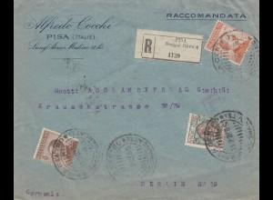 Italien: 1922: Pisa nach Berlin