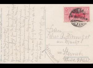 Italien: 1930: Ansichtskarte Merano nach Steinach/Thür.