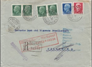 Italien: 1934: Bolzano nach Berlin - Wertpost - Registered