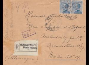Italien: 1921: Oostantinc nach Berlin