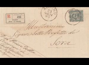 Italien: 1890: Arpino nach Sora