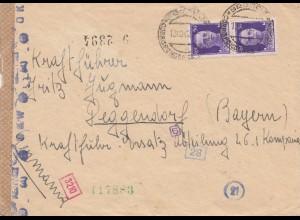 Italien: 1942: Bresica nach Deggendorf - OKW Zensur