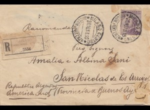 Italien: 1918: Brief von Milano nach San Nicolas - Argentina