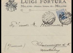 Italien: 1920: Milano nach Schwenningen
