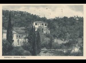 Italien: 1929: Ansichtskarte Rapallo