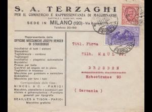 Italien: 1930: Milano nach Dresden