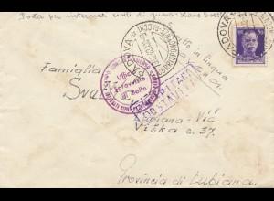 Italien: 1942: Padova nach Lubiana - Zensur