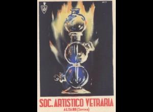 Italien: Karte: Soc. Artistico Vetraria Altare/Savona